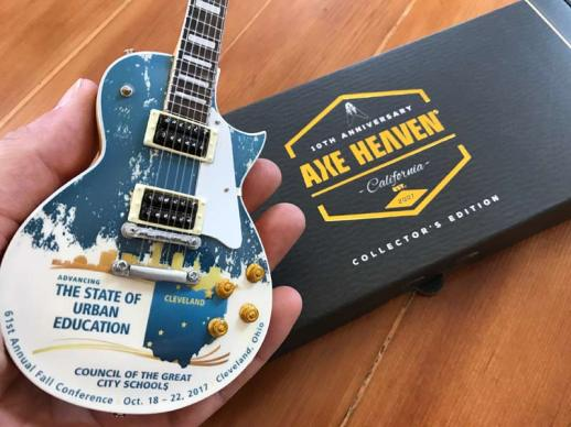 Full-Color Promo Electric Mini Guitar by AXE HEAVEN®