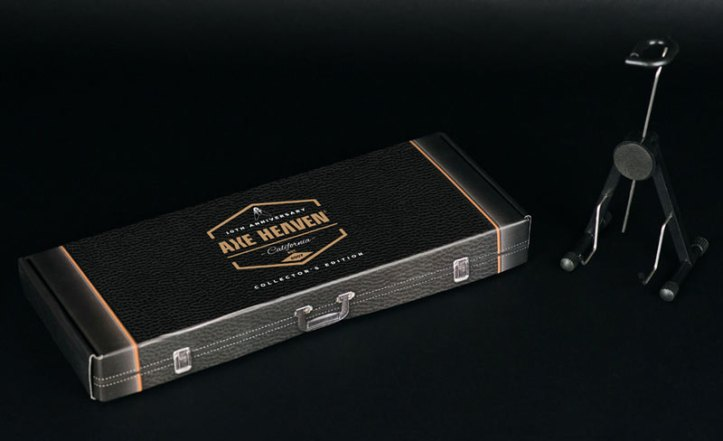 "10th Anniversary Gift Box for 10"" Mini Guitars by AXE HEAVEN®"