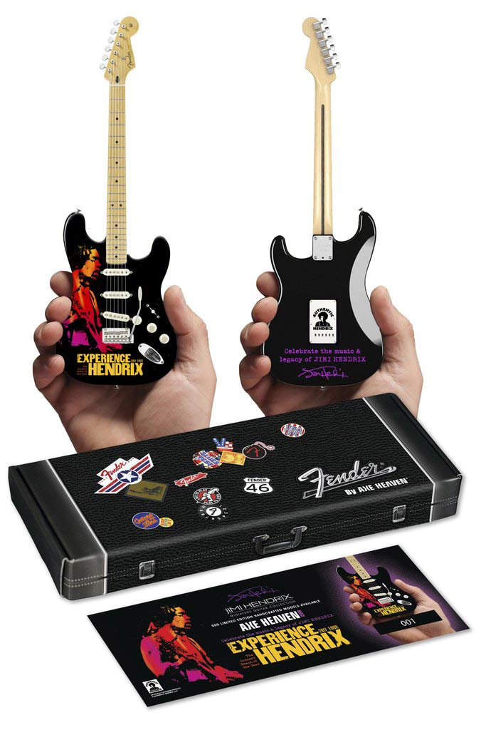 "Fender™ by AXE HEAVEN® Gift Box and Limited-Edition Numbered Insert for Experience Hendrix Stratocaster™ 10"" Mini Guitar"