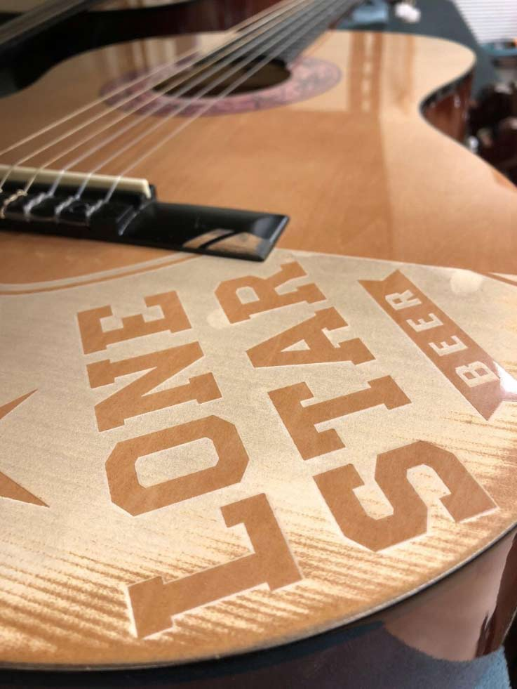Laser-Engraved Real Guitars