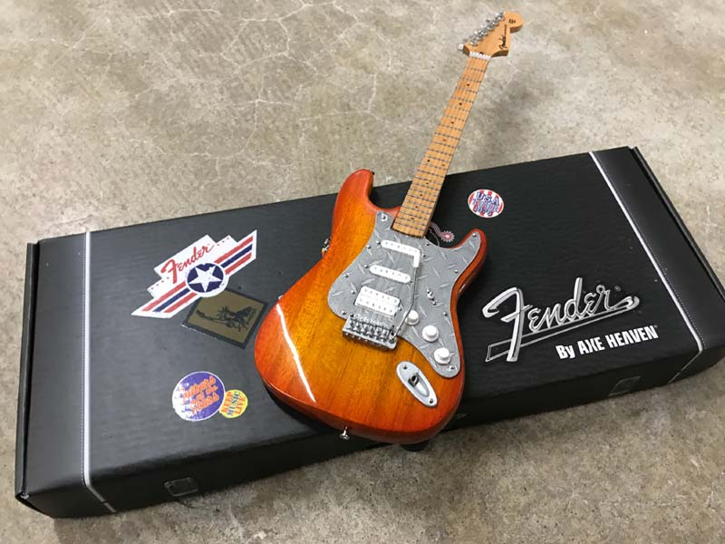 Natural Finish Custom Fender™ Strat™ with Metal Pickguard on Fender™ by AXE HEAVEN® Gift Box