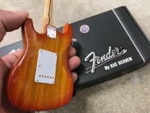 Back Close-up of Natural Finish Custom Fender™ Strat™ with Metal Pickguard