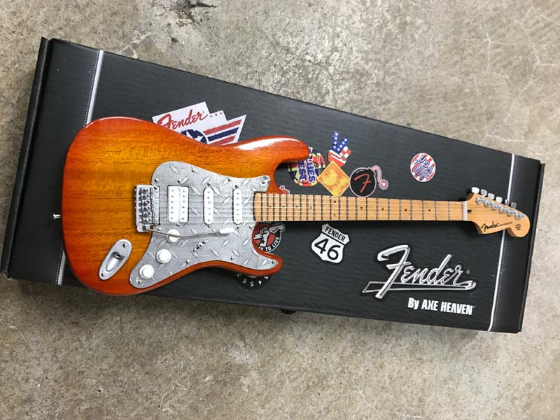 Custom Fender™ Strat™ with Natural Finish and Metal Plate