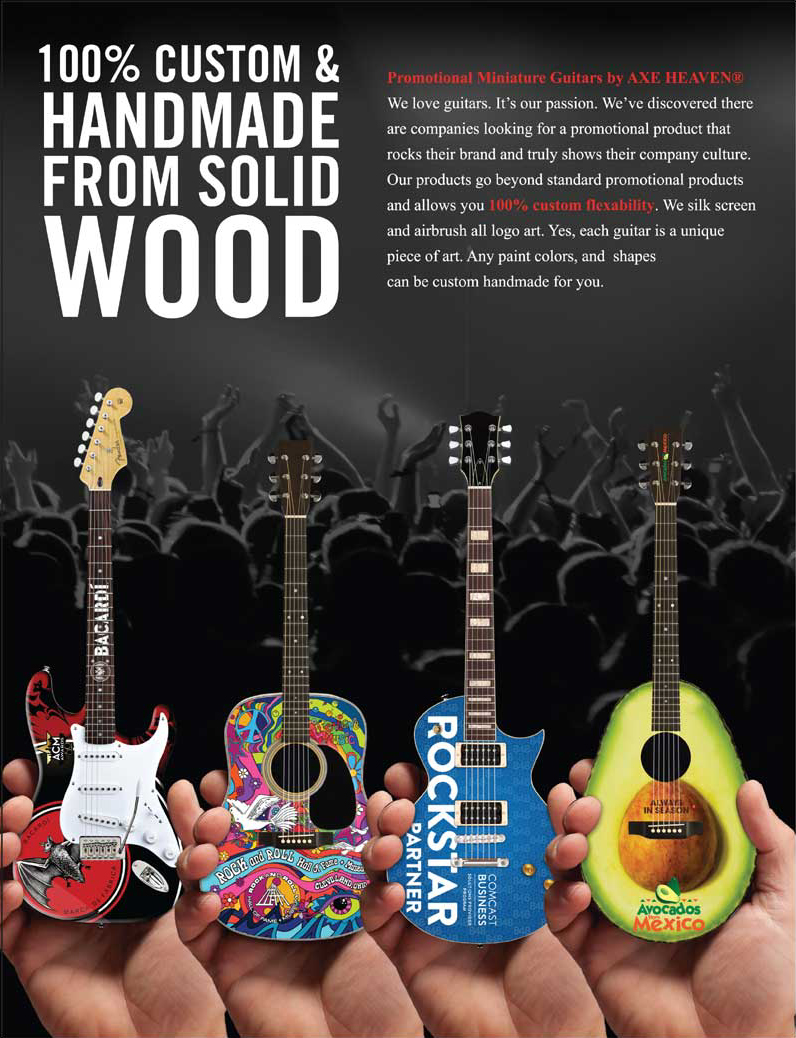 100% Custom & Handmade From Solid Wood Promo Mini Guitars By AXE HEAVEN®