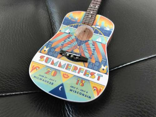 Summerfest 2018 Custom Promo 6-Inch Acoustic Guitar Ornament