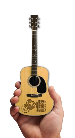 Laser-Engraved Acoustic Mini Guitar for Tennessee National Guard