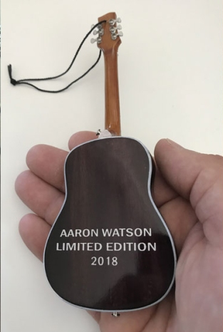 Aaron Watson Limited-Edition 2018 Custom Acoustic Guitar Ornament