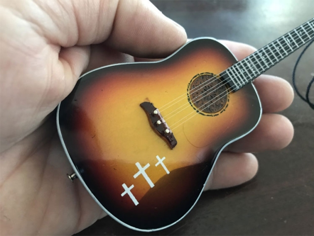 Aaron Watson Custom Acoustic Guitar Ornament