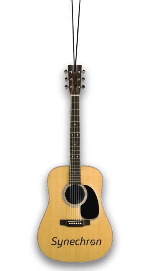 Promo Acoustic Guitar Holiday Ornament