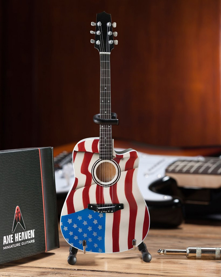 Toby Keith American Flag Acoustic Mini Guitar