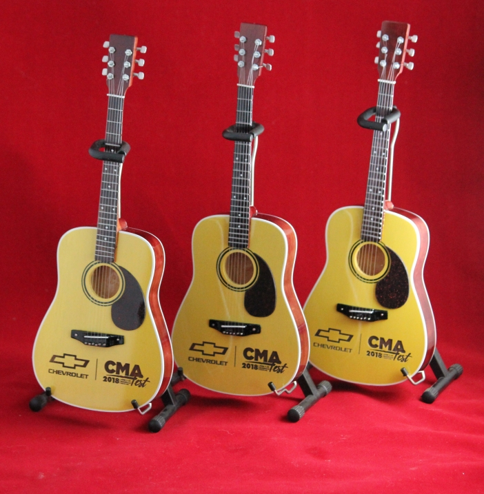 Laser-Engraved Acoustic Mini Guitars for Chevrolet at CMA Fest