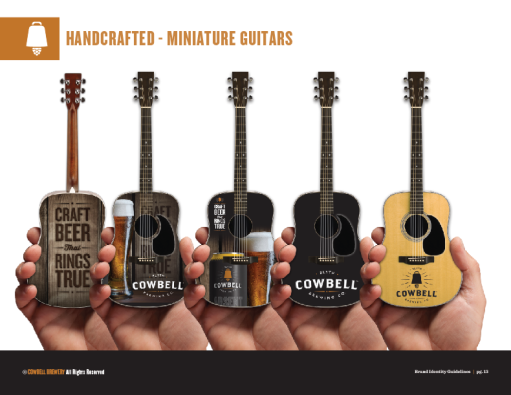 Promo Acoustic Mini Guitars for Cowbell Beer