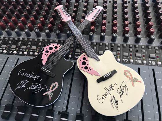 Custom Acoustic Mini Guitars for Charity Event