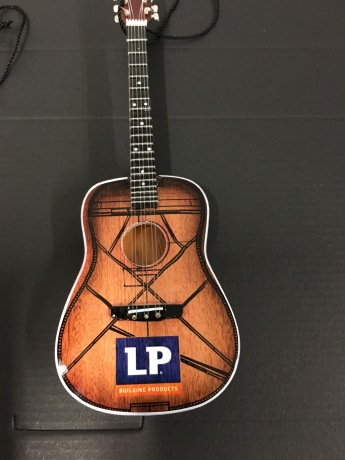 Promo Acoustic Guitar Holiday Ornament for LP Building Products