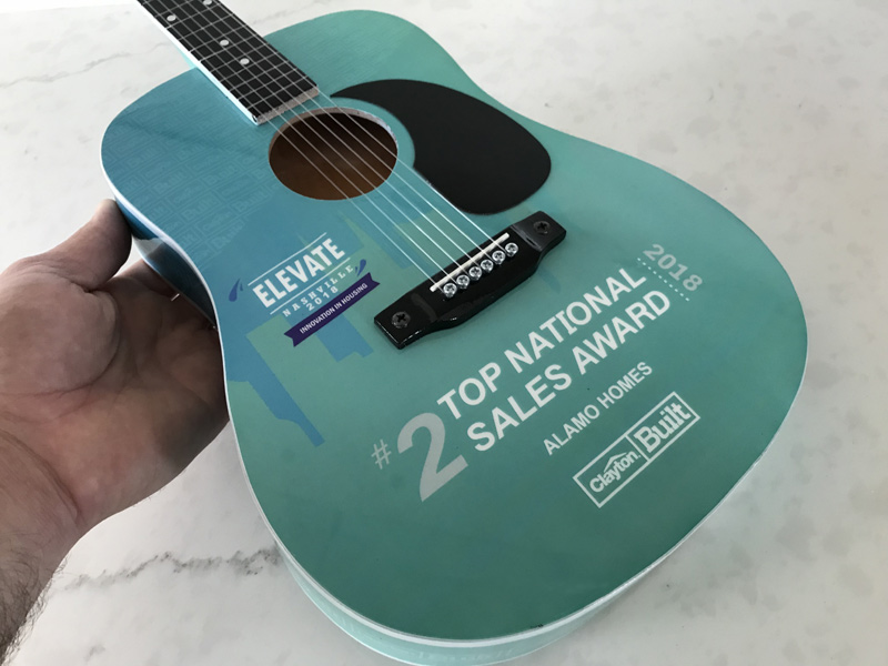 "24"" Acoustic Guitar Award for Nashville Corporate Events"