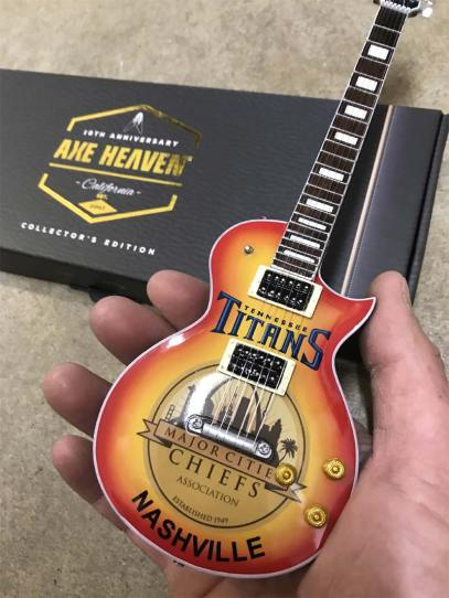Nashville Event Sponsored by Tennessee Titans - Custom Promo Mini Guitar for Major Cities Chiefs Association