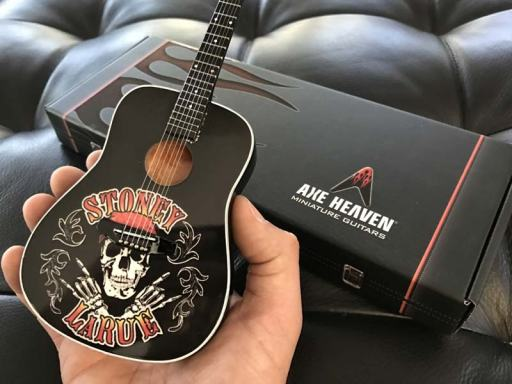 "Artist Meet & Greet Merch - Promo Acoustic 10"" Mini Guitar for Stoney Larue"