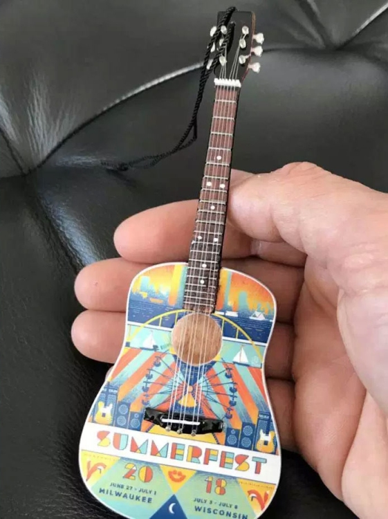 "Summerfest 2018 Acoustic Guitar 6"" Ornament"