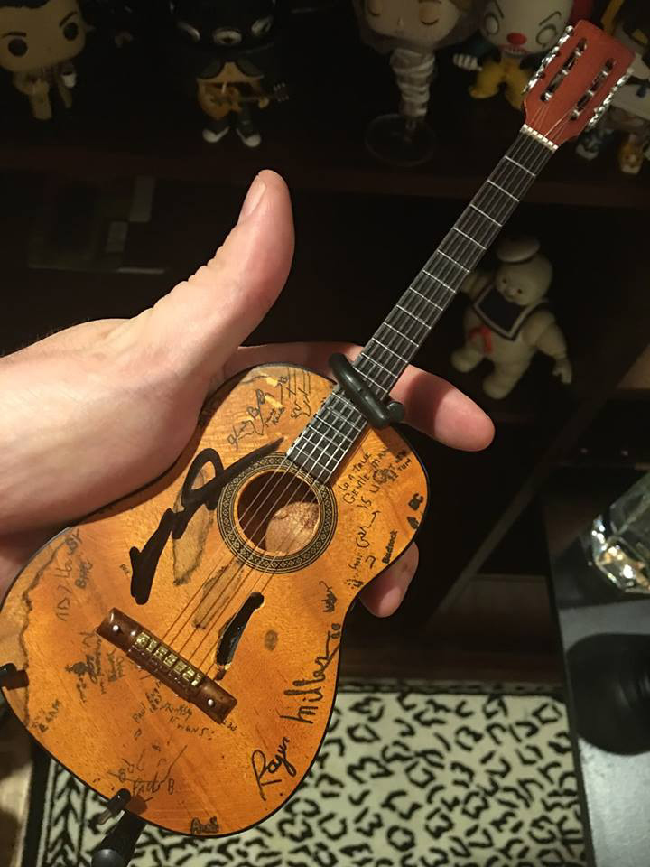 Trigger Acoustic Mini Guitar Signed by Willie Nelson