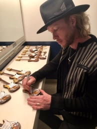 Kenny Wayne Shepherd Signs His Officially Licensed Mini Guitars by AXE HEAVEN®