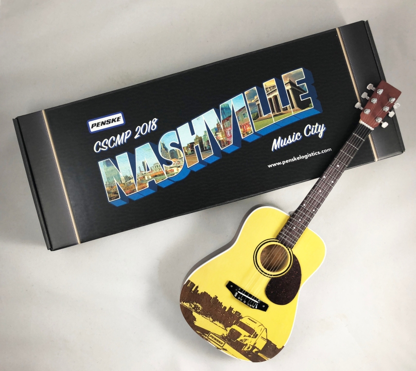 Penske Custom Promotional Package for Laser-Engraved Acoustic Mini Guitar by AXE HEAVEN®