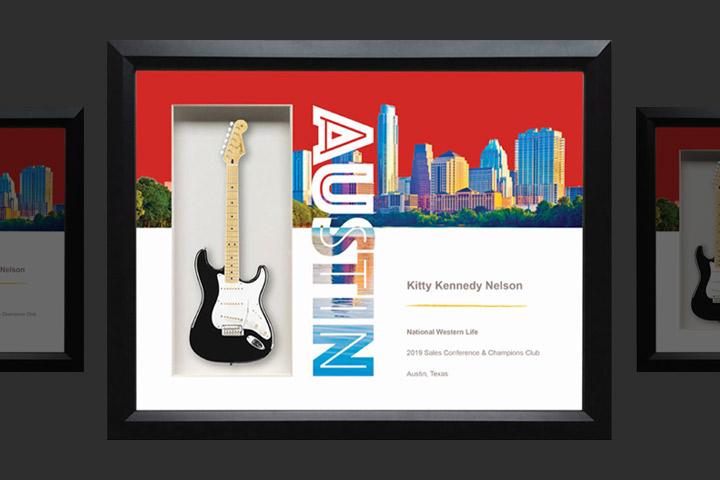 National Western Life Shadowbox Guitar Award