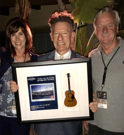 Lyle Lovett with his Shadowbox by AXE HEAVEN