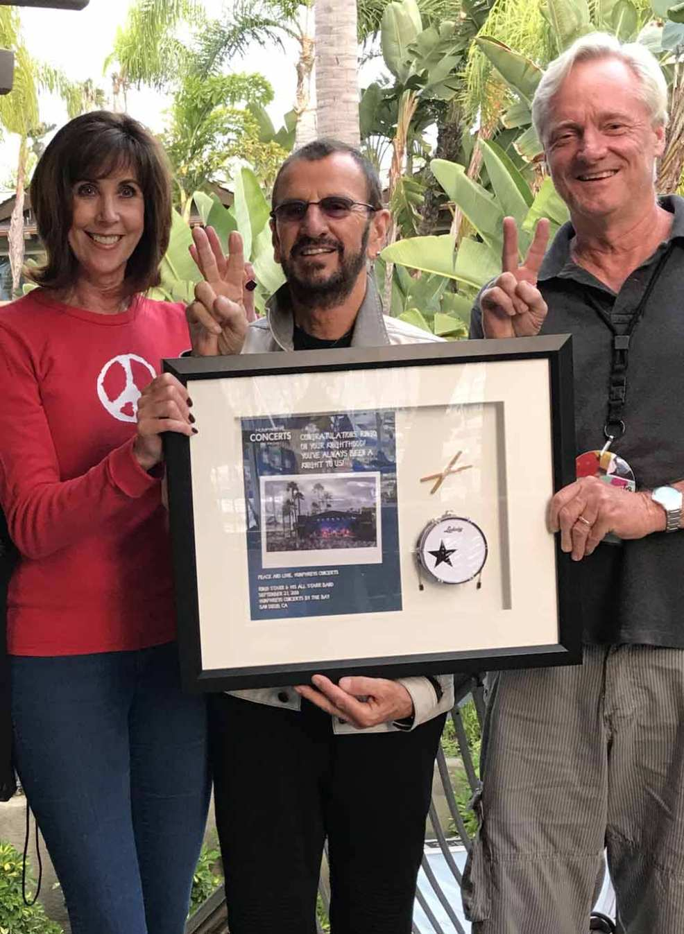 Ringo Starr with his Shadowbox by AXE HEAVEN®