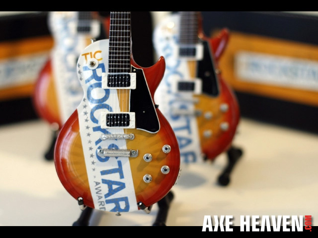 TIC ROCKSTAR AWARD Project Miniature Guitars from AXE HEAVEN®