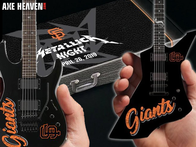 SF Giants 2019 Metallica Night Mini Guitar Promo Giveaways by AXE HEAVEN®