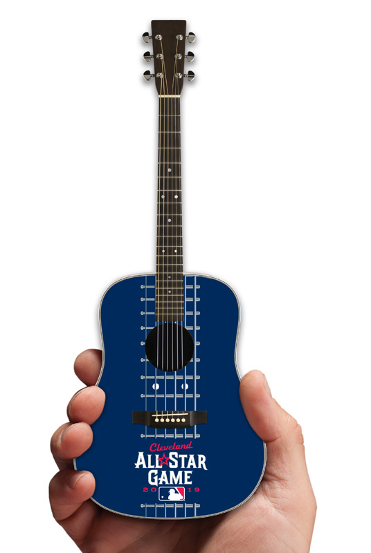 Major League Baseball All-Star Game Cleveland 2019 Acoustic Mini Guitar by AXE HEAVEN®