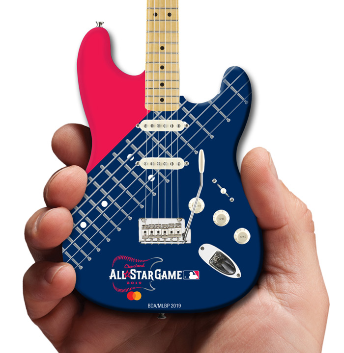 Major League Baseball All-Star Game Cleveland 2019 Promo Mini Guitar by AXE HEAVEN® Mastercard