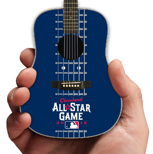 Major League Baseball All-Star Game Cleveland 2019 Acoustic Mini Guitar by AXE HEAVEN® Close-Up