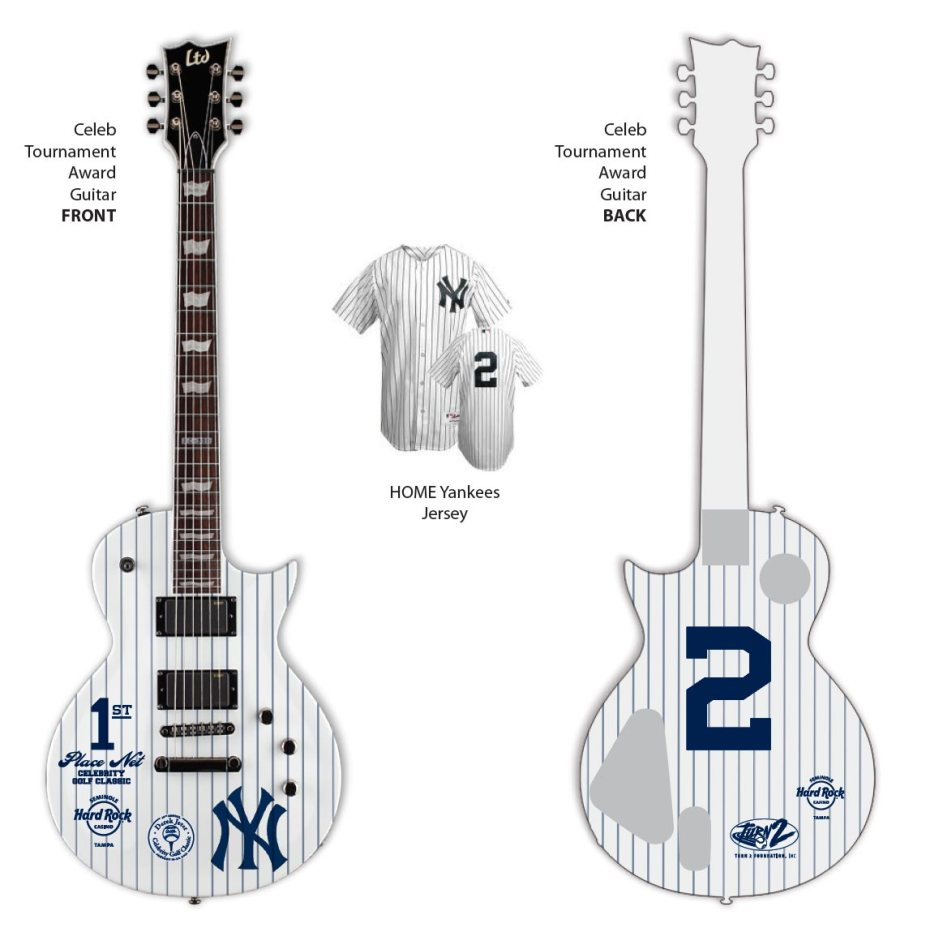 Celebrity Tournament Award NY Yankees Mini Guitar by AXE HEAVEN®
