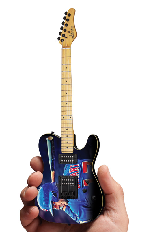 Chicago Cubs Kris Bryant Schecter Mini Guitar Replica Collectible by AXE HEAVEN®