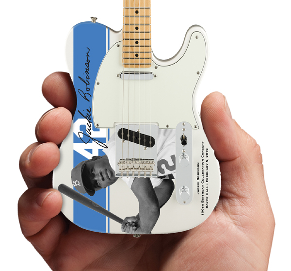 Jackie Robinson 100th Birthday Celebration Concert Promo Mini Guitar by AXE HEAVEN® Close-Up