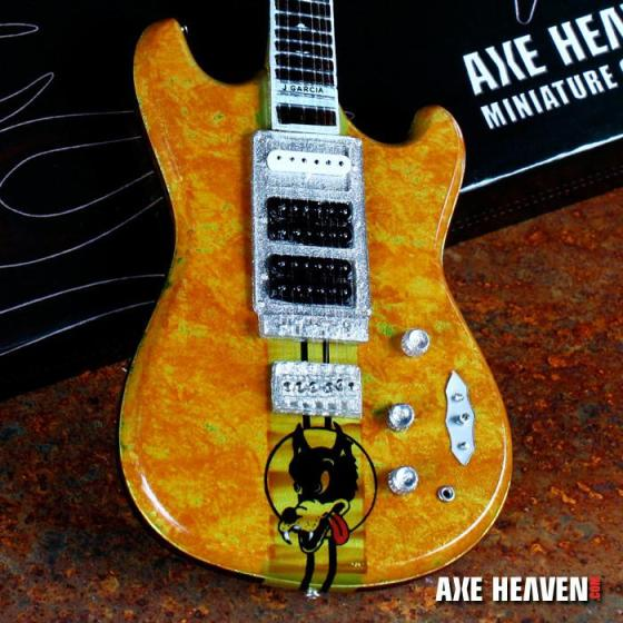 Officially Licensed Jerry Garcia™ Wolf™ Mini Guitar by AXE HEAVEN®