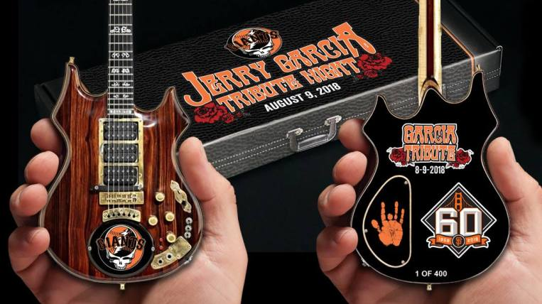 Jerry Garcia™ Tribute Night 2018 SF Giants Mini Guitar by AXE HEAVEN®