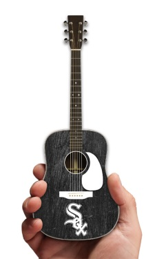 Chicago White Sox Acoustic Mini Guitar Replica Collectible by AXE HEAVEN®
