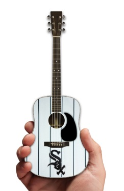Chicago White Sox Pinstripe Acoustic Mini Guitar Replica Collectible by AXE HEAVEN®