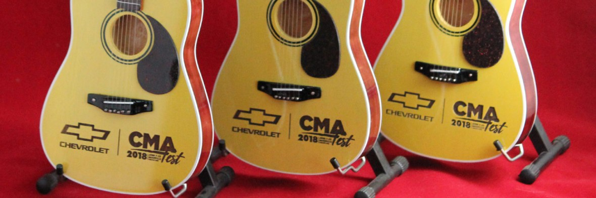 Chevrolet's CMA Fest Custom Promotional Laser Engraved Acoustic Mini Guitars by AXE HEAVEN®