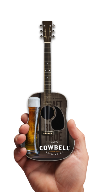 Cowbell Brewing Co. Craft Beer Promo Acoustic Mini Guitar