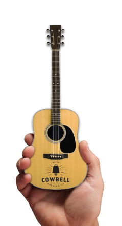 Cowbell Brewing Co. Promotional Natural Finish Acoustic Mini Guitar