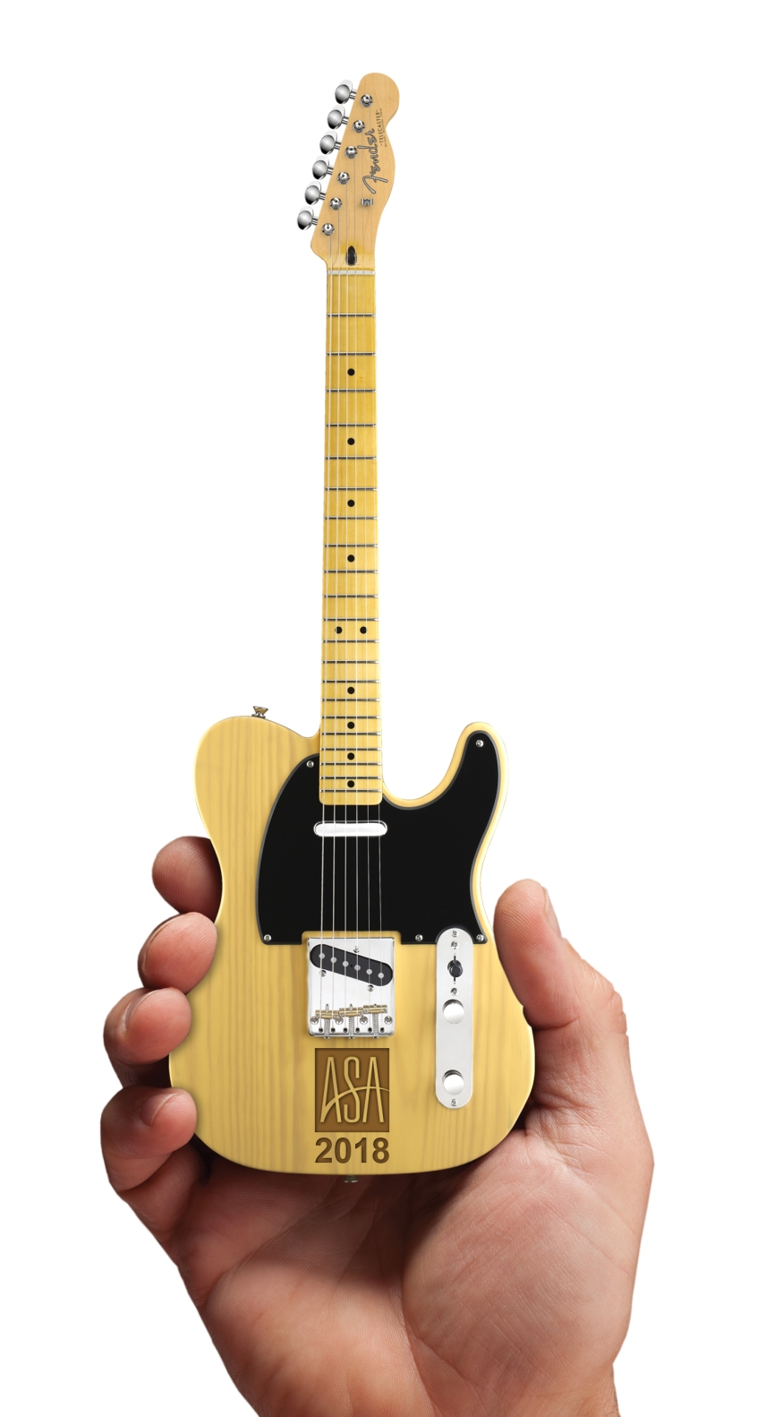 Virtual of ASA Laser-Engraved Fender™ Telecaster™ Mini Guitar by AXE HEAVEN®