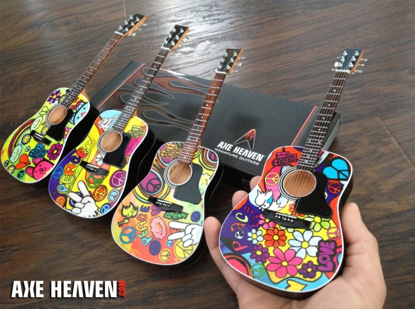 Peace Tea Collection Promo Acoustic Mini Guitars Handcrafted by AXE HEAVEN®