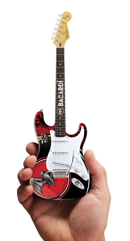 Bacardi Custom Promo Fender™ Strat™ Mini Guitar by AXE HEAVEN®
