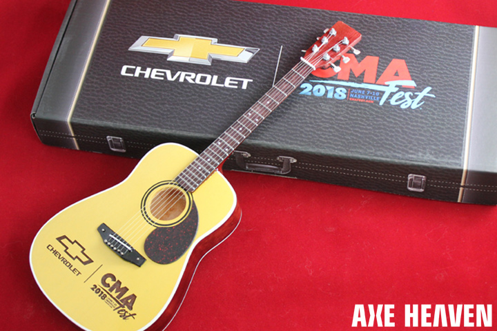 Chevrolet's CMA Fest Custom Promotional Package for Laser Engraved Acoustic Mini Guitar by AXE HEAVEN®
