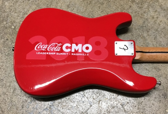 Coca-Cola® Promo Fender™ Stratocaster™ Mini Guitar by AXE HEAVEN® - Back Close-Up