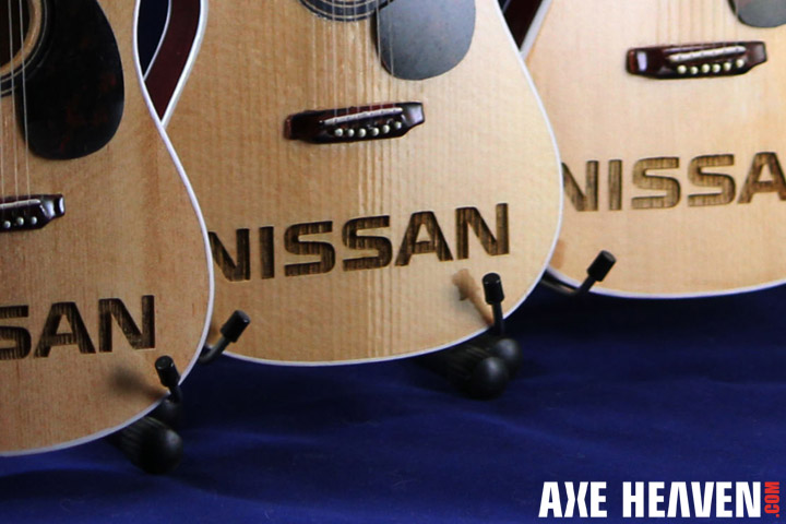 Nissan Branding On Laser-Engraved Acoustic Mini Guitars