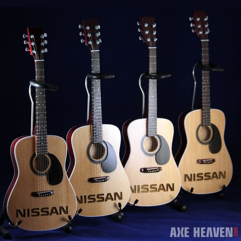 Nissan Laser-Engraving on AXE HEAVEN® Acoustic Mini Guitar Promo Product